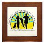 Parents Against Dog Chaining Framed Tile