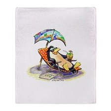 tRoPiCaL pEnGuIn Throw Blanket