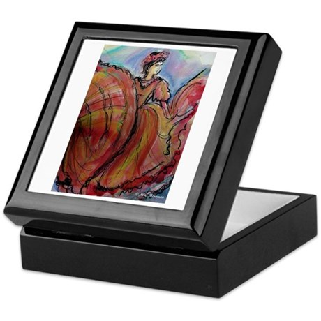 Fiesta, Dancer, Colorful, Keepsake Box