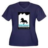 Icelandic Horse Women's Plus Size V-Neck T-Shirt