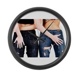 Funny Relationship Large Wall Clock