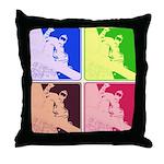 Snowboarding Pop Art Throw Pillow
