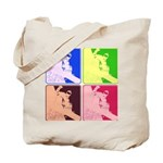 Snowboarding Pop Art Tote Bag