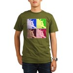 Snowboarding Pop Art Organic Men's T-Shirt (dark)