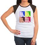 Snowboarding Pop Art Women's Cap Sleeve T-Shirt