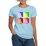 Snowboarding Pop Art Women's Light T-Shirt