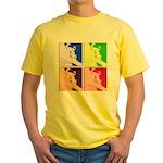 Snowboarding Pop Art Yellow T-Shirt