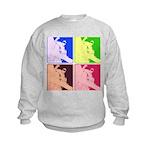 Snowboarding Pop Art Kids Sweatshirt