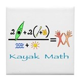 Kayak Math Tile Coaster