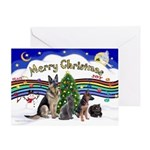 X-Music #1-2G-Sheps,2cats Greeting Card