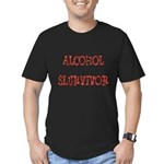 Alcohol Survivor Men's Fitted T-Shirt (dark)