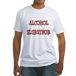 Alcohol Survivor Fitted T-Shirt