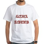 Alcohol Survivor White T-Shirt