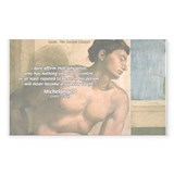 Michelangelo Nude Painting Rectangle Decal
