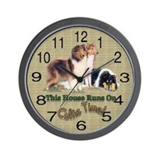 Collie Gifts Wall Clock