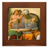 Michelangelo Art Philosophy Framed Tile