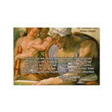 Michelangelo Art Philosophy Rectangle Magnet