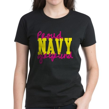 Proud Navy Girlfriend Women's Dark T-Shirt