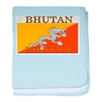 Bhutan Flag baby blanket