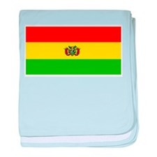 Bolivia Blank Flags baby blanket