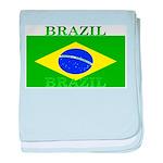 Brazil Brazilian Flag baby blanket
