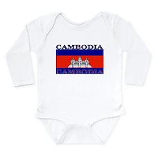 Cambodia Cambodian Flag Long Sleeve Infant Bodysui