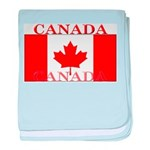 Canada Canadian Flag baby blanket