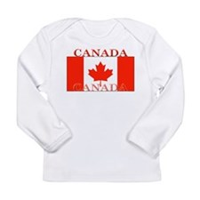 Canada Canadian Flag Long Sleeve Infant T-Shirt