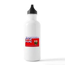 Manitoba Manitoban Flag Sports Water Bottle