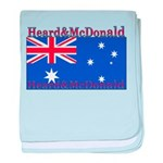 Heard & McDonald Flag baby blanket