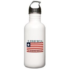 Liberia Liberian Flag Water Bottle