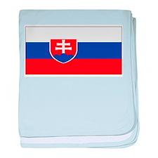 Slovakia Blank Flag baby blanket