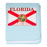 Florida Floridian State Flag baby blanket