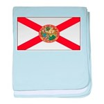 Florida Sunshine State Flag baby blanket