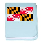 Maryland Blank Flag baby blanket