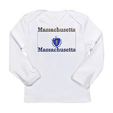 Massachusetts State Flag Long Sleeve Infant T-Shir