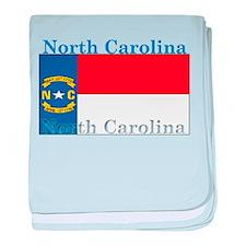 North Carolina State Flag baby blanket