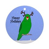 Green Parrotlet Reindeer Ornament