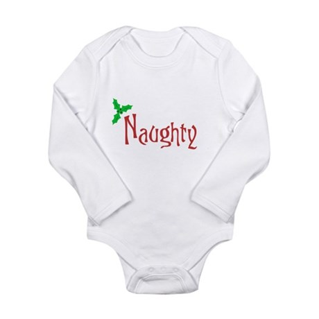 Naughty Long Sleeve Infant Bodysuit