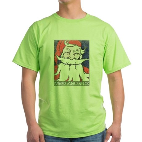 Vintage Merry Christmas Green T-Shirt