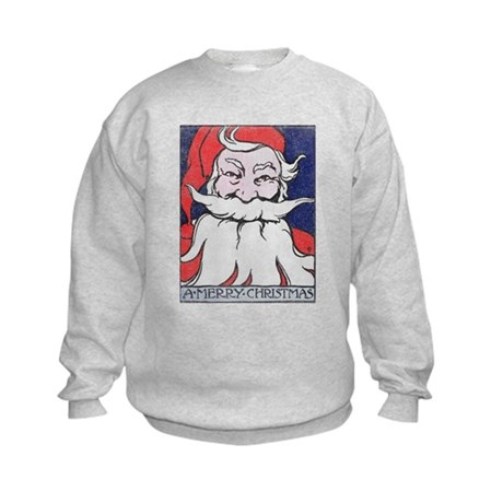 Vintage Merry Christmas Kids Sweatshirt