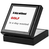A Day without Golf Keepsake Box