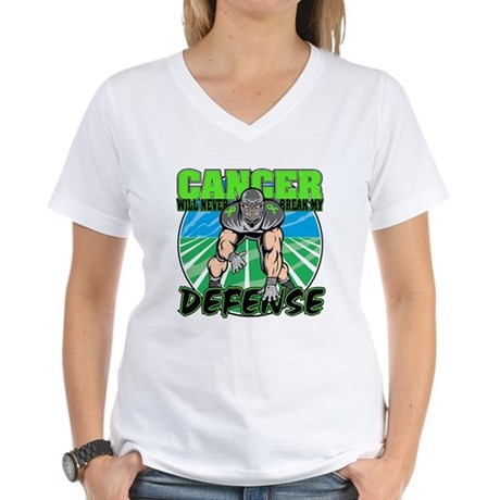 Break Defense Lymphoma Women's V-Neck T-Shirt
