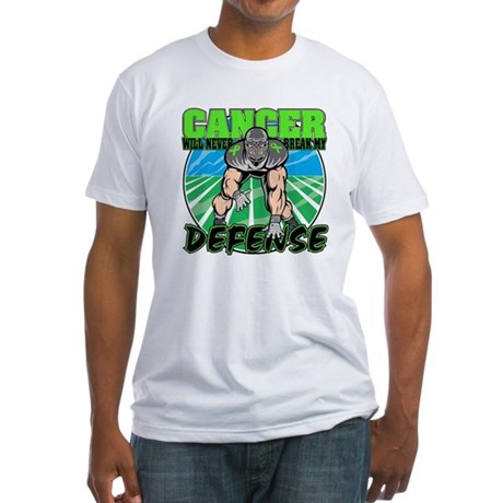 Break Defense Lymphoma Fitted T-Shirt