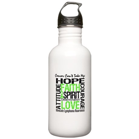 Cancer Can't - Lymphoma Stainless Water Bottle 1.0