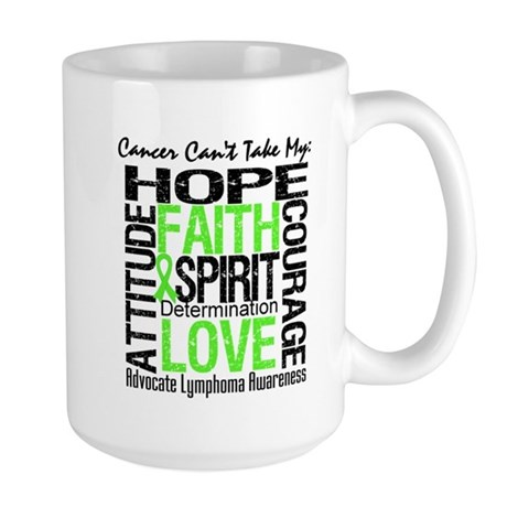 Cancer Can't - Lymphoma Large Mug
