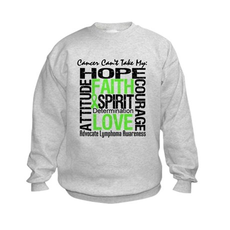 Cancer Can't - Lymphoma Kids Sweatshirt