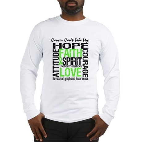 Cancer Can't - Lymphoma Long Sleeve T-Shirt