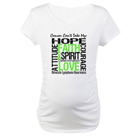 Cancer Can't - Lymphoma Maternity T-Shirt