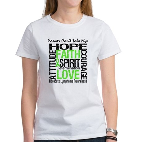 Cancer Can't - Lymphoma Women's T-Shirt